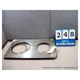 STAINLESS SERVING COVERS (2X MONEY)