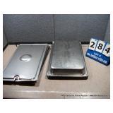 STAINLESS PANS W/ LIDS - 12 X 18 X 3 (4X MONEY)