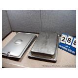 STAINLESS PANS W/ LIDS - 12 X 18 X 4 (4X MONEY)