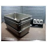 20X12X6 STAINLESS BOWLS (4X MONEY)