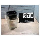 6 QT. PLASTIC BINS (2X MONEY)