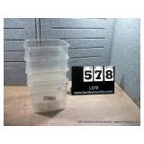 6 QT. PLASTIC BINS (4X MONEY)