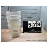 4 QT. PLASTIC BINS (4X MONEY)