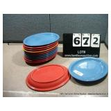 COLORED OVAL PLATES (12X MONEY)