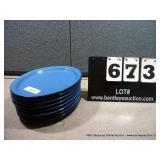 BLUE OVAL PLATES (8X MONEY)