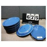 BLUE OVAL PLATES (10X MONEY)