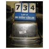 """18""""X10""""X6"""" STAINLESS PANS (4X MONEY)"""