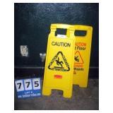 WET FLOOR CAUTION SIGNS (2X MONEY)