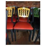 MTS SEATING METAL CHAIR- YELLOW ON RED