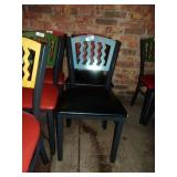 MTS SEATING METAL CHAIR- BLUE ON BLACK