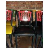 MTS SEATING METAL CHAIR- RED ON BLACK