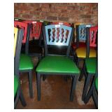 MTS SEATING METAL CHAIR- BLUE ON GREEN