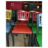 MTS SEATING METAL CHAIR- RED ON RED