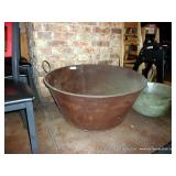 LARGE METAL BOWL- RUSTED OUT BOTTOM