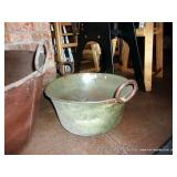MEDIUM METAL BOWL- RUSTED OUT BOTTOM