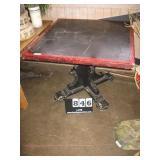 39X39 TABLE SINGLE 4 LEGGED BASE