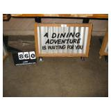 """""""A DINING ADVENTURE IS WAITING FOR YOU"""" METAL SI"""