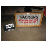 """""""PACKERS NO PAY FOR SICK LEAVE, IF YOU"""