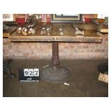 """WOOD TOP, METAL STAND TABLE 29""""X36""""X36"""""""