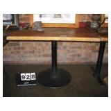 """WOOD TOP, METAL STAND TABLE 29""""X30""""X40"""""""