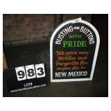 """WOOD SIGN- NEW MEXICO PRIDE 14""""X20"""""""