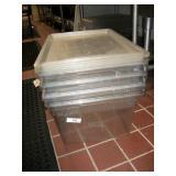 RUBBERMAID PLASTIC TUBS W/ LIDS (4X MONEY)