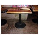 30X30 GARDUNOS TABLE W/ ROUND BASE