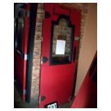 WOODEN DOOR W/ PLEXIGLASS
