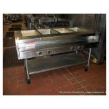 1993 STANLEY KNIGHT 4-BAY STEAM TABLE