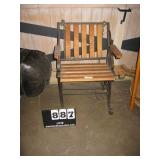WOODEN & WROUGHT IRON CHAIR