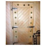 """WOOD DOOR W/ WALK-IN COOLER HARDWARE 83 1/2""""X36"""""""