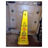 CAUTION WET FLOOR SIGN- CONE STYLE