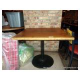 """WOOD TOP METAL STAND TABLE 30""""X36""""X36"""""""