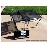 LOT: (2) EXPANDED METAL END TABLE