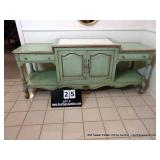 ENTRY HALL TABLE W/ MARBLE INSET