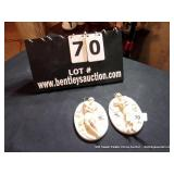 LOT: (2) OVAL CERAMIC LOVERS, S8079, MARKED