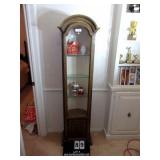 CURVED TOP CURIO CABINET W/ 4 SHELVES
