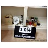 LOT: ASSORTED CANDLES & DECORATIONS