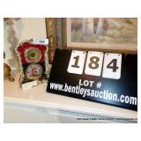 ROYAL VIENNAL PORCELAIN MANTLE CLOCK (BEEHIVE)