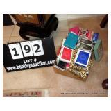 BOX: ASSORTED CARDS BRIDGE PADS