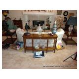 LOT: HERITAGE TABLES, 2-END TABLES & 1 SOFA