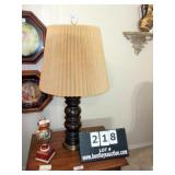 CARVED WOODEN TABLE LAMP