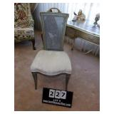 UPHOLSTERED CHAIR W/ CANE BACK