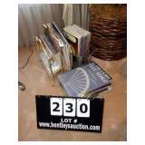LOT: SHEET MUSIC, MUSIC BOOKS, DEER HEAD BUICKET