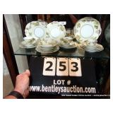 LOT: 22-PIECE SILESIA OLD IVORY DISHES