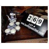 LOT: ROYAL COPENHAGEN TEA SET, 1-PITCHER, 5-CUPS