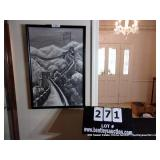 FRAMED PRINT OF GREAT WALL OF CHINA