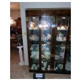 BEVELED GLASS DISPLAY CABINET~LIGHTED W/ 4