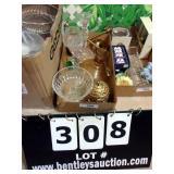 BOX: CANDLEHOLDERS & BEE HIVE