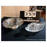 LOT: FOOTED BOWL & PLATTER